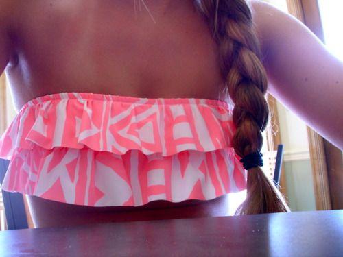 bathing suit top. ruffles.