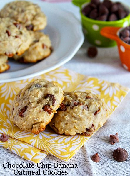 Chocolate Chip Banana Cookies by www.whatscookingw...