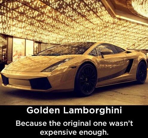 Funny - Golden Lamborghini - www.funny-picture...