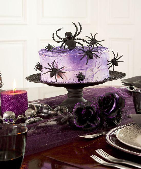 Halloween Sparkle Spider Cake