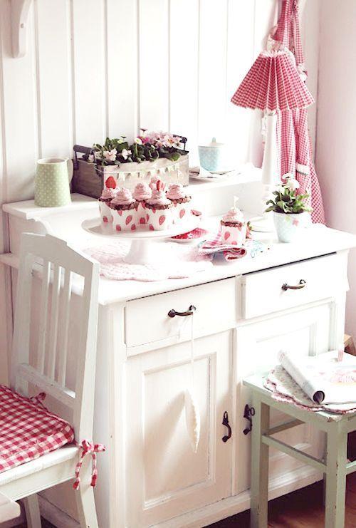 Pink shabby chic kitchen - myshabbychicd - myshabbychicdecor... - #shabby_chic #home_decor #design #ideas #wedding #living_room #bedroom #bathroom #kithcen #shabby_chic_furniture #interior interior_design #vintage #rustic_decor #white #pastel #pink