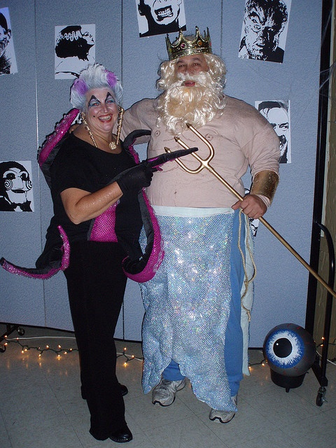 ursula and king titan! this is funny! I could do this