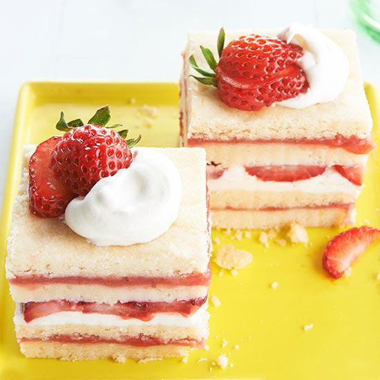 Strawberry Shortcake Icebox Bars