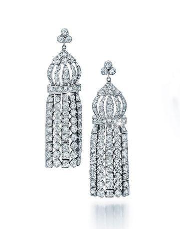 Art Deco Diamond Tassel Earrings