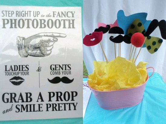 Photo props at a Carnival Party #carnival #partyphotos