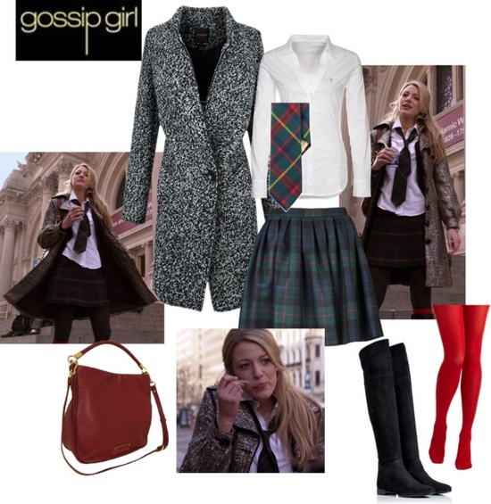 """Gossip Girl 1x01 - Serena school style"" by rossellalola on Polyvore"