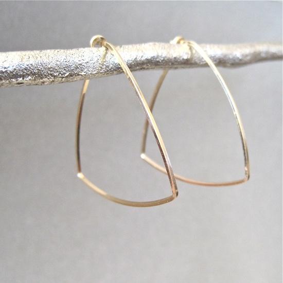 TINY TRIANGLE HOOP   by Tangerine Jewelry Shop