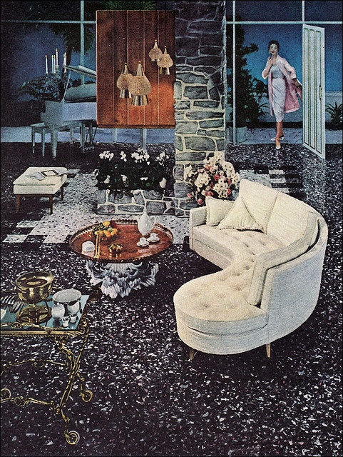 1957 Gold Seal Living Room - I want that sofa!