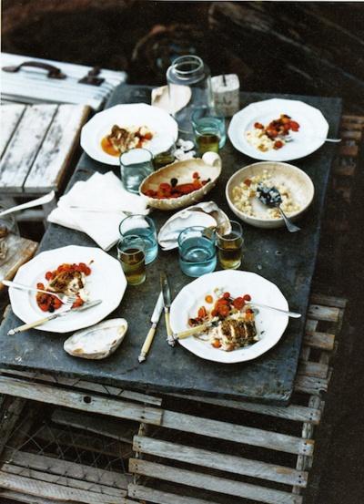rustic picnic.