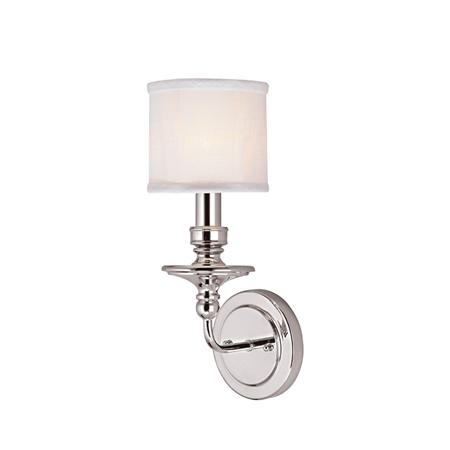 Springfield Sconce with Linen Drum Shade 1 LT - 3 finishes!