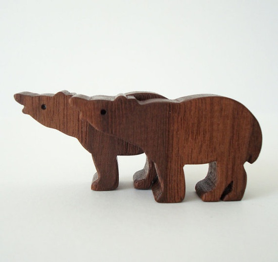 Tapir wood toy by Waldorf  Wood Toys