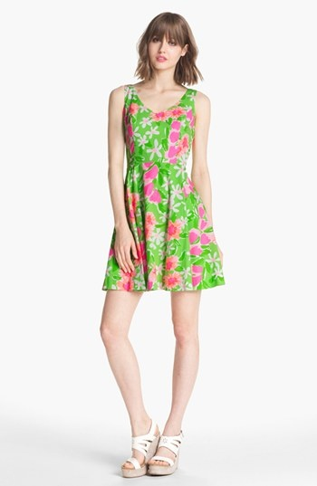 Garden party ready: Lilly Pulitzer fit & flare dress.