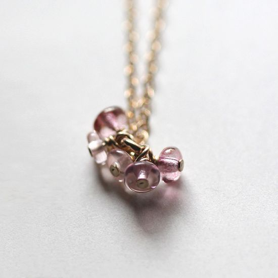 love story - tiny beaded necklace