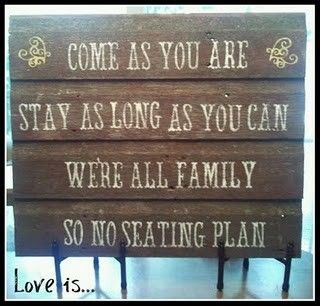 Don't have a seating plan at all and let your guests sit wherever they please