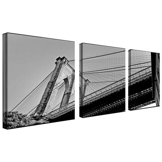 3 Piece Brooklyn Bridge II Canvas Art Set