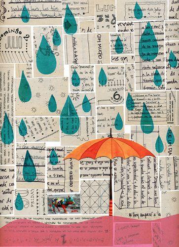 Rain collage.