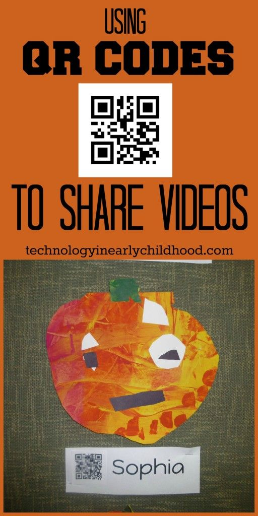 Using QR Codes to Share Videos with Parents