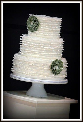 Austin Ruffle Wedding Cake