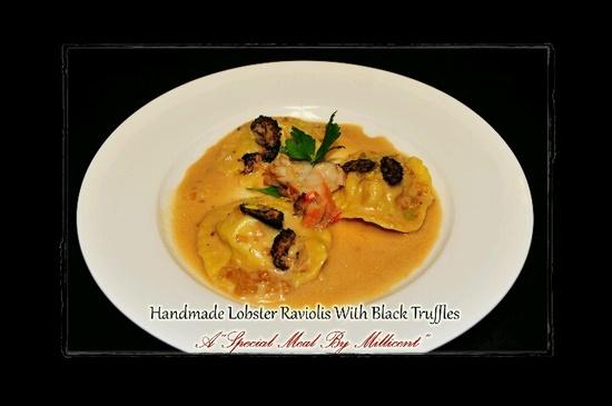 Special handmade raviolis for a special occasion