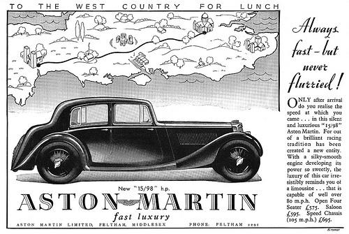 Aston Martin advertisement.