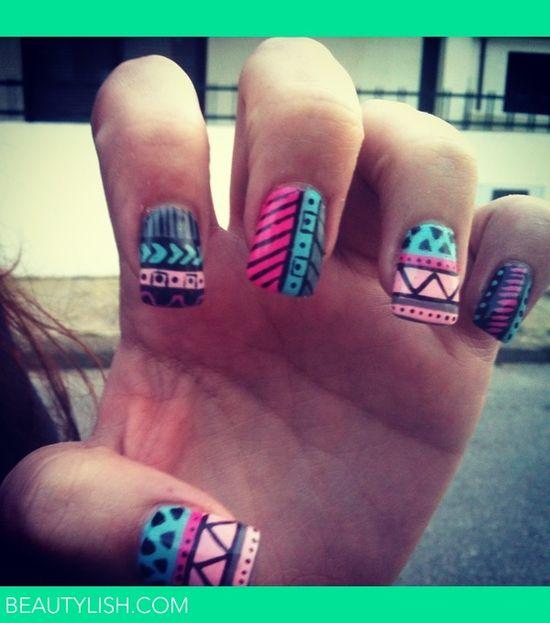 tribal nails ????