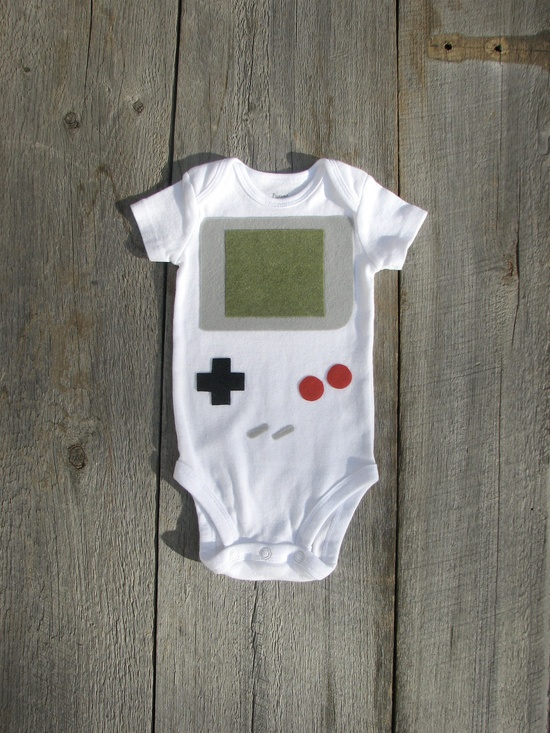 Nintendo Gameboy Baby Clothes by TheWishingElephant on Etsy, $18.00