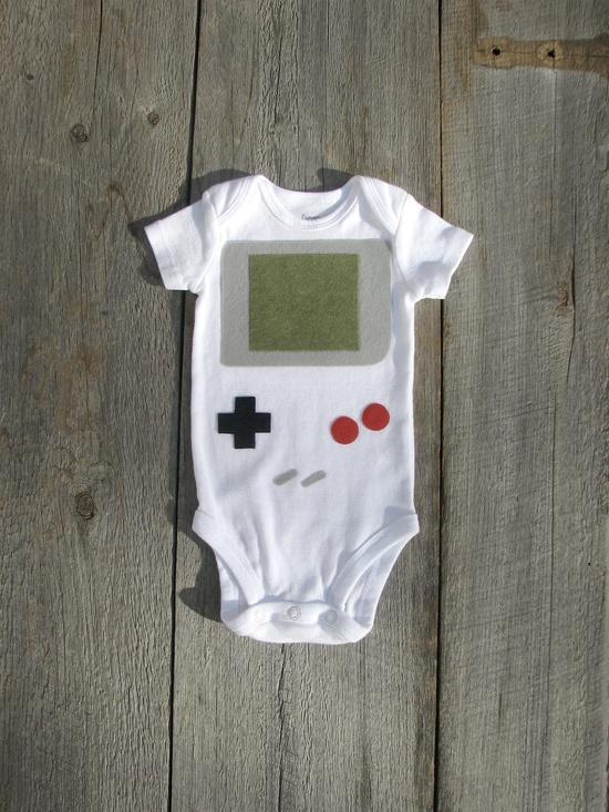Nintendo Gameboy Baby Clothes by TheWishingElephant on Etsy, $18.00