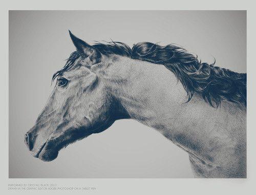Crystall Black. Art Work Design. Portrait Illustration