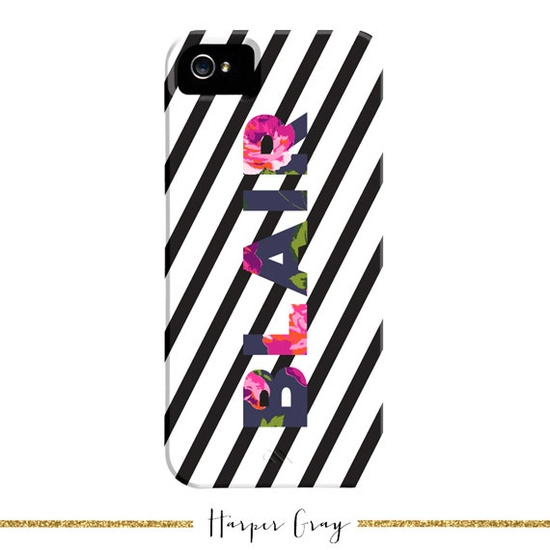 Personalized iPhone 4 or iPhone 5 Case // Hampton Floral