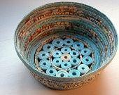 Handmade Paper Basket - Aqua,