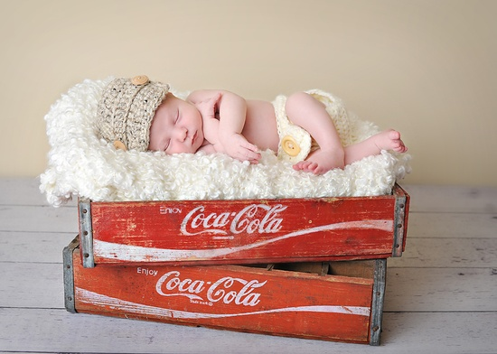 newborn - i know i saved my Coke crates for something...lol may have to find a newborn for this one...