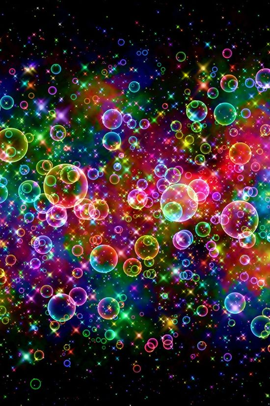 bubbling with color