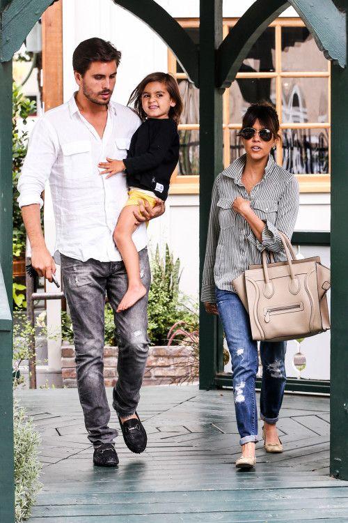 Kourtney Kardashian & Family: Lunch In Calabasas