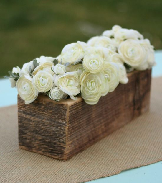 Rustic Barnwood  12x4   Planter Box  $11 each / 3 for $10 each (so inexpensive!)