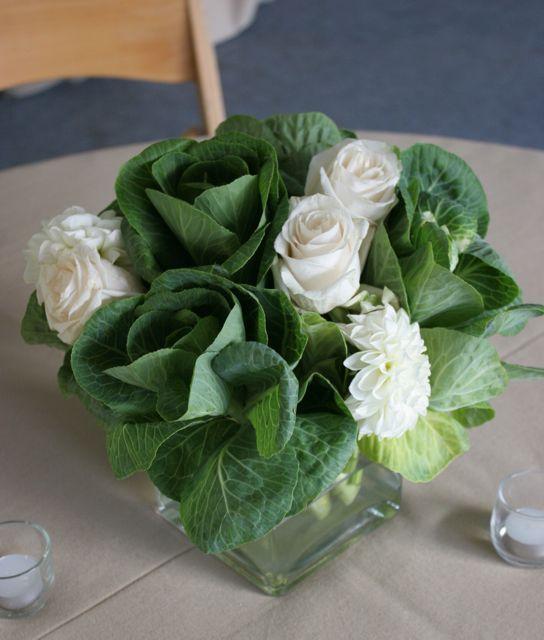 I love cabbages in flower arrangements