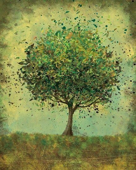 Green Tree Art - Welcome Change (rustic green) - 8x10 Print. $18.00, via Etsy.