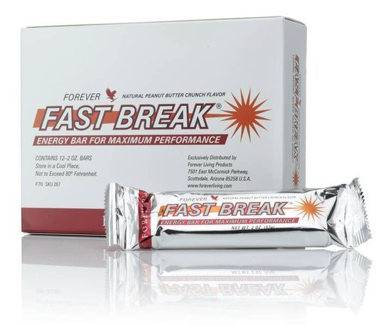 Fast Break Energy Bar The Fast Break Energy Bar is packed with vitamins and minerals. It also provides valuable protein, polyunsaturated fatty acids and satisfying dietary fibre. Perfect directly after physical exertion or when taken a couple of times during the