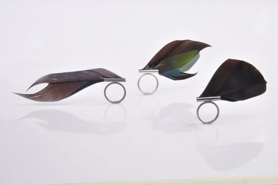 Gabrielle Morosini feather rings