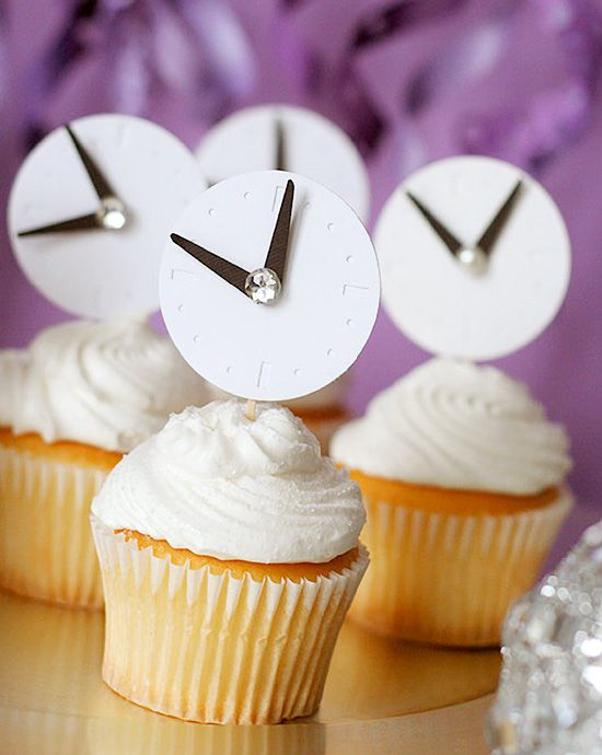 New Year Cupcake Toppers