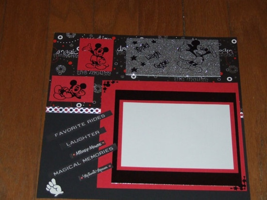 Magical memories at Disney  Mickey Mouse Scrapbook by donna7022, $7.00