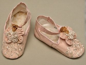 antique silk baby shoes ... c. 1900