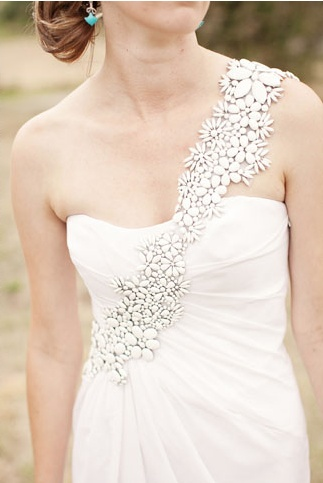 One shoulder wedding dress by Thurley, photo by Louisa Bailey