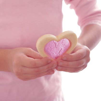 Windowpane Cookies by familyfun #Cookies #Valentines #familyfun