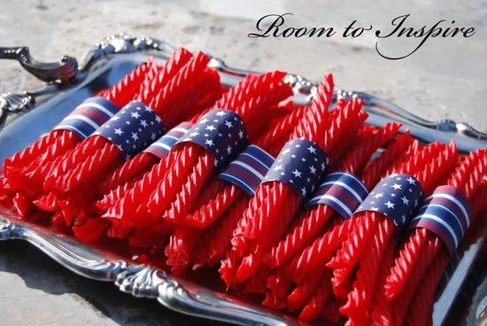 4th of July party! Also can be made with black licorice and halloween paper for Halloween