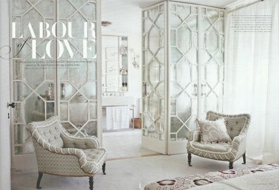 These mirrored wardrobes are gorgeous! I am a sucker for mirrored furniture.