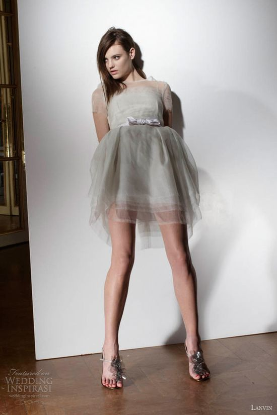 lanvin wedding dresses spring 2013 short sleeve dress