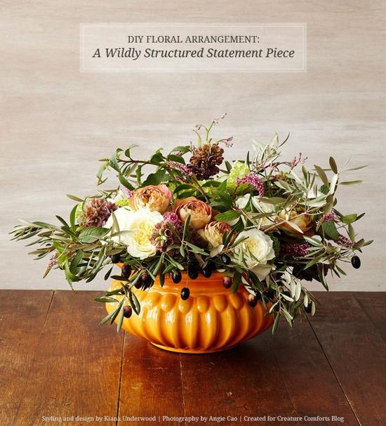 DIY Floral Arrangement: A Wildly Structured Statement Piece