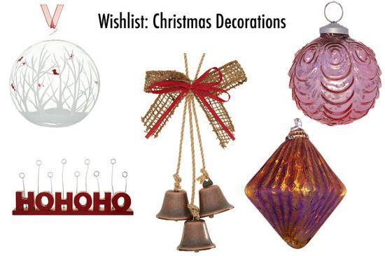 Wishlist Christmas Decorations