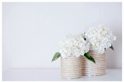 diy, diy rope vase, rope vase, flowers, flower arrangement