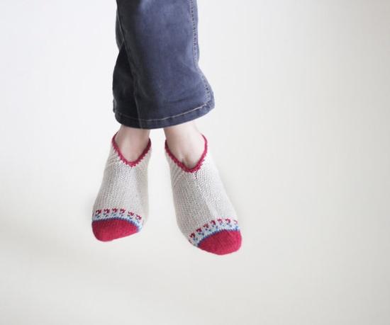 Organic Wool Slippers Women Handmade socks clothing by SENNURSASA, $19.00